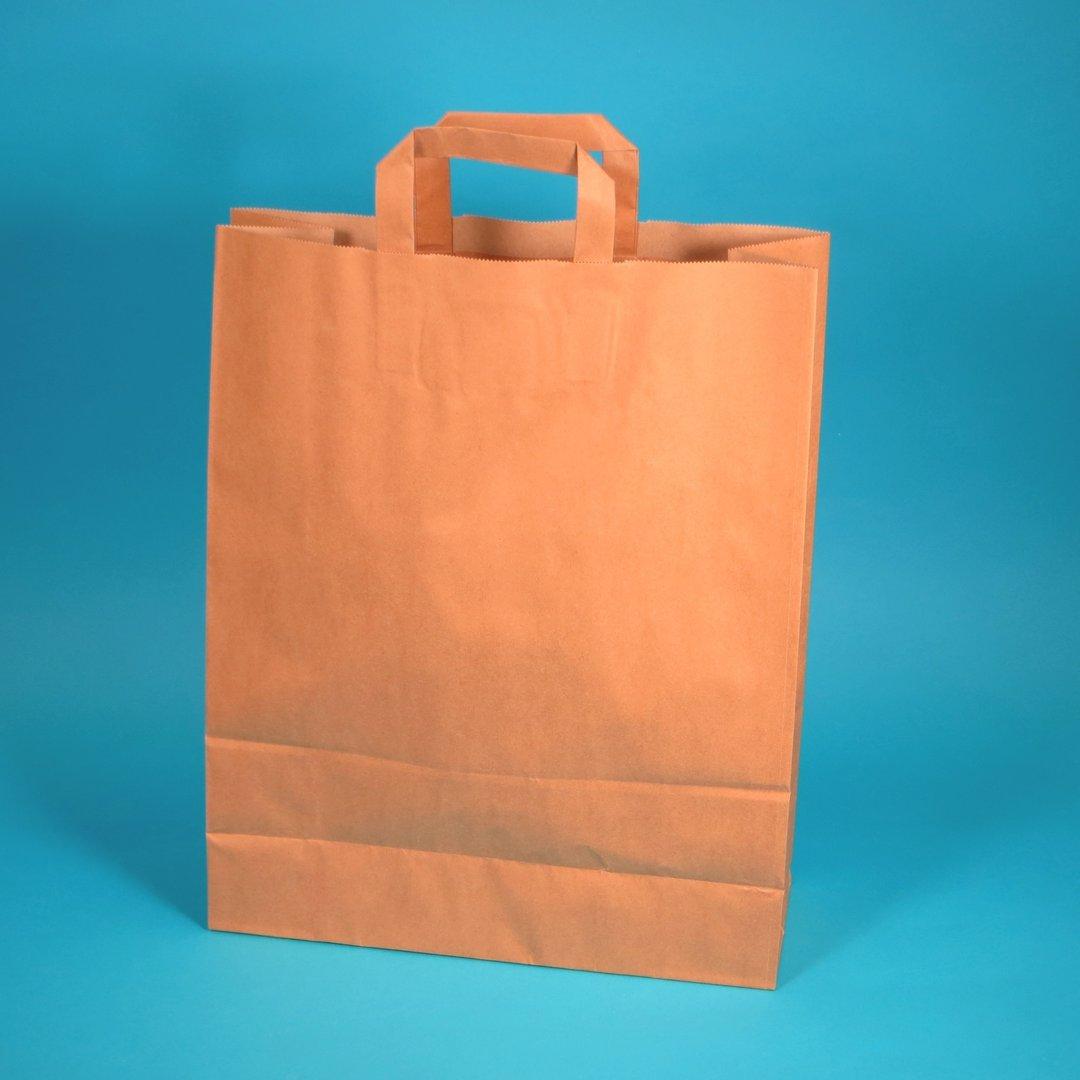 Papiertragetaschen braun 100g/m² 46x17x47cm 150St.