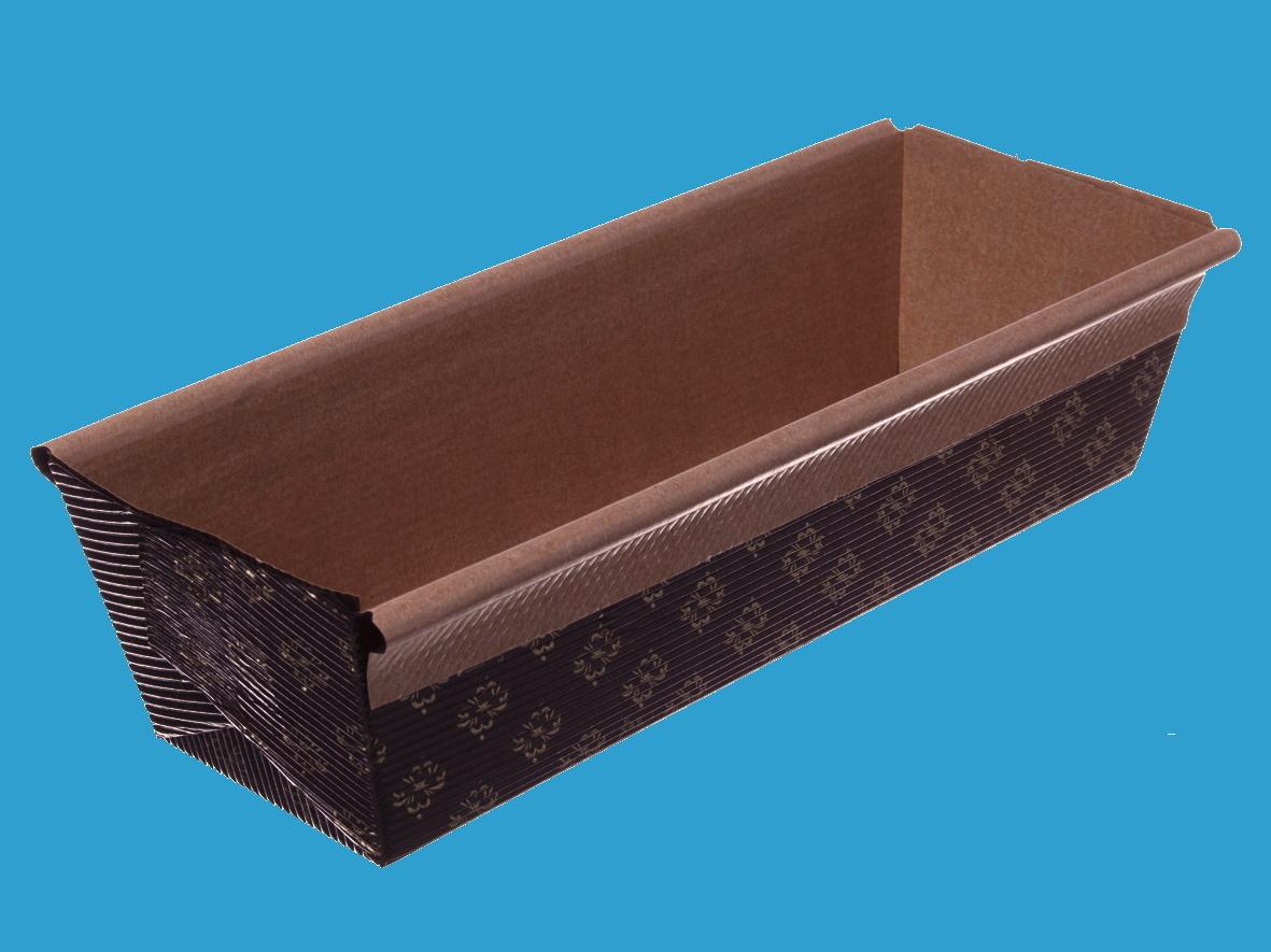 Einweg Backformen Papier eckig 70x227mm 65mm hoch 480St