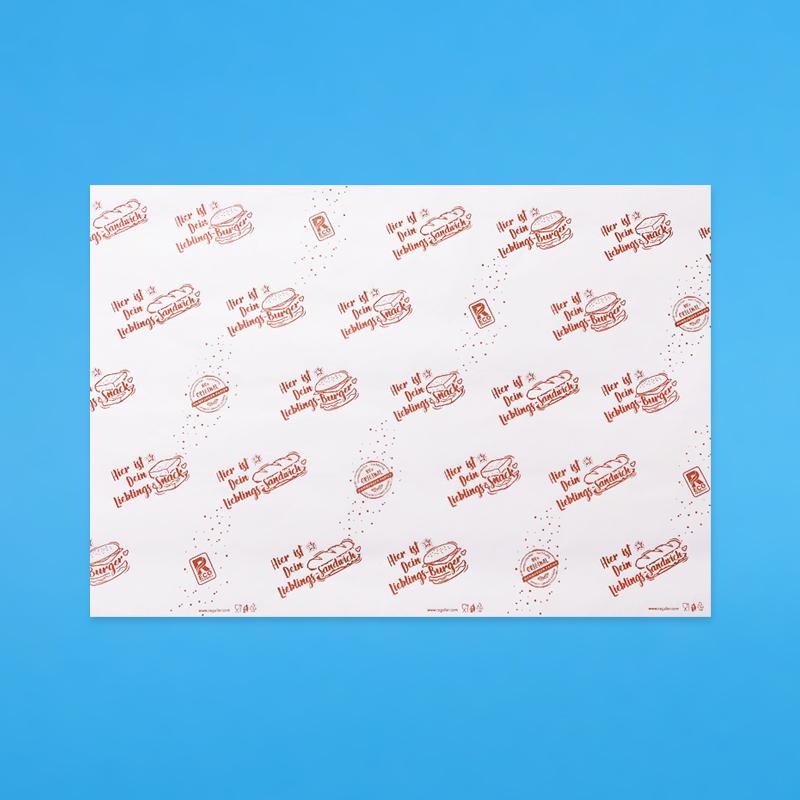 Bio Sandwich- & Hamburgerpapier rot 2000 Blatt versch. Größen