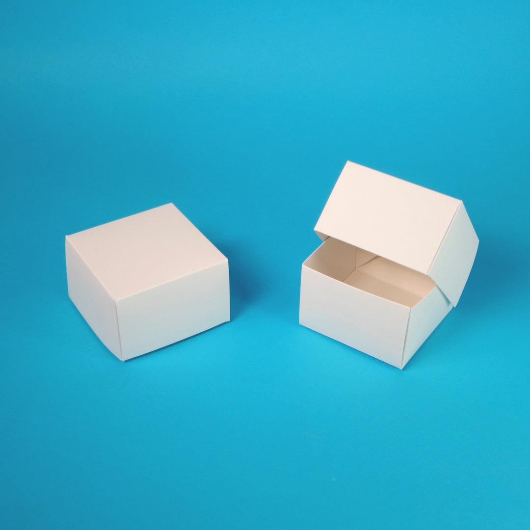 Premium Mini Cakebox Frischfaser weiß 10,5x10,5x7cm 100St