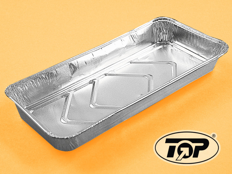 Einwegbackformen Aluminium eckig 232x126x20mm 1200St