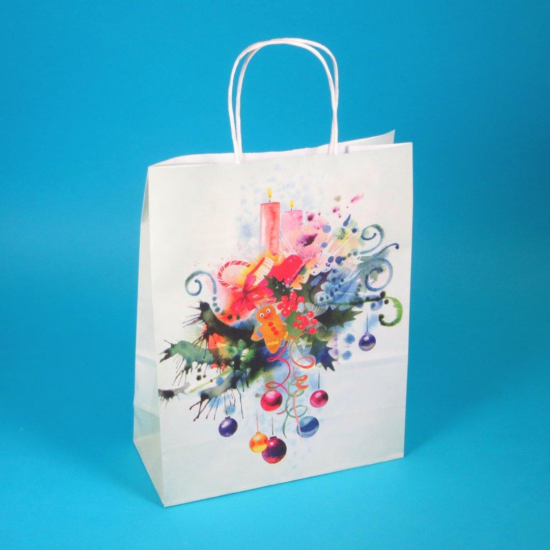 """Papiertragetaschen """"Candy"""" m. Kordel 22+10x28cm 300St"""