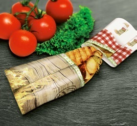 "Snack Panini Bag ""Fresh & Delicious"" 220x230mm 500St"