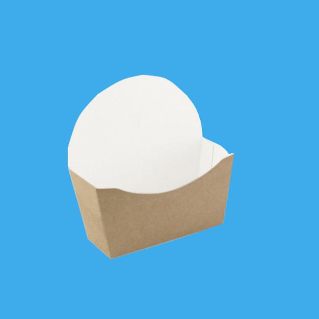 Bagel Boxen Kraftpapier braun/weiß versch. Größen