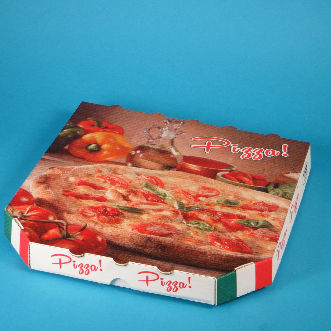 Pizzakarton Treviso Kraft mit Neutralmotiv versch. Größen