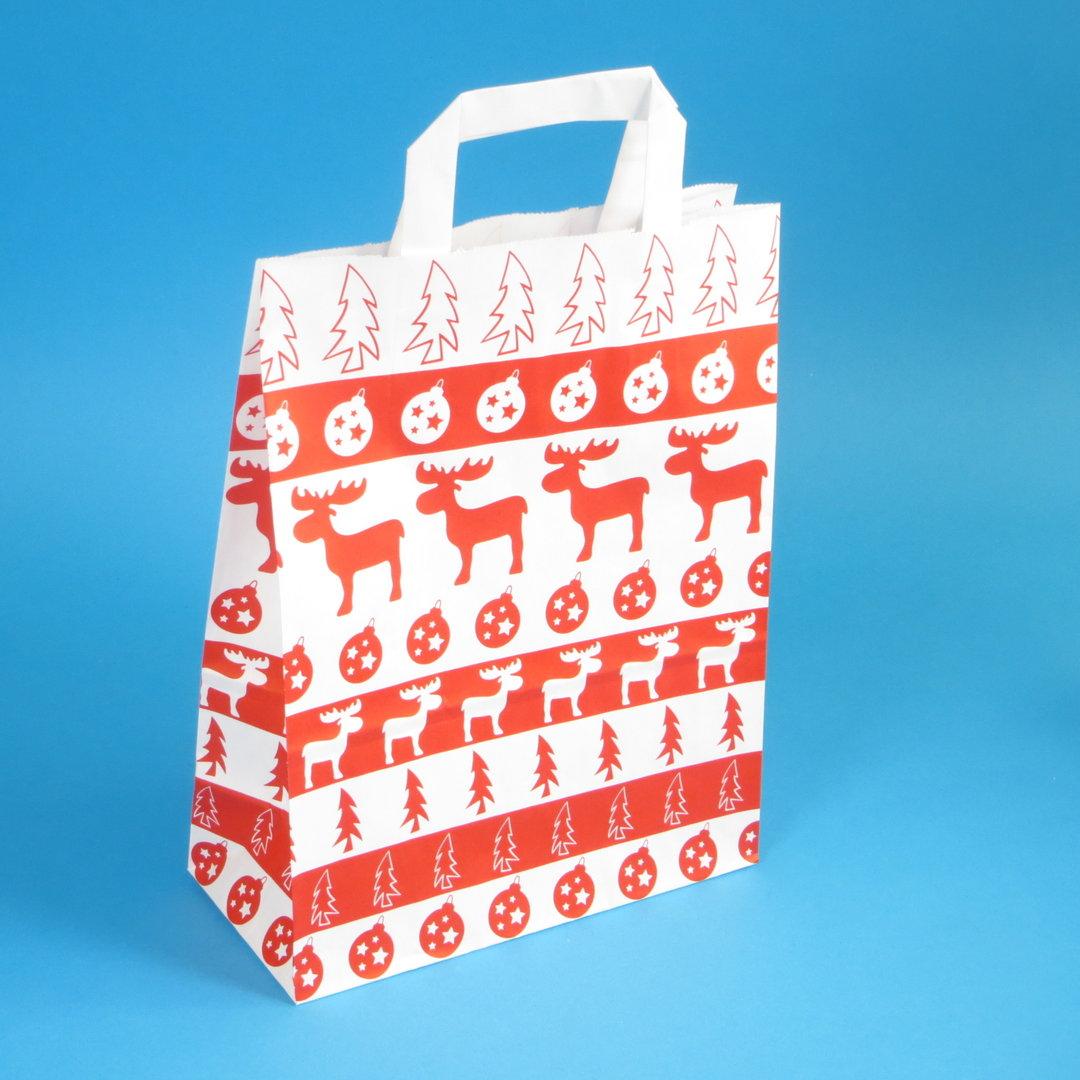 Papiertragetaschen Weihnachten Norweger Elch 250St versch. Größen