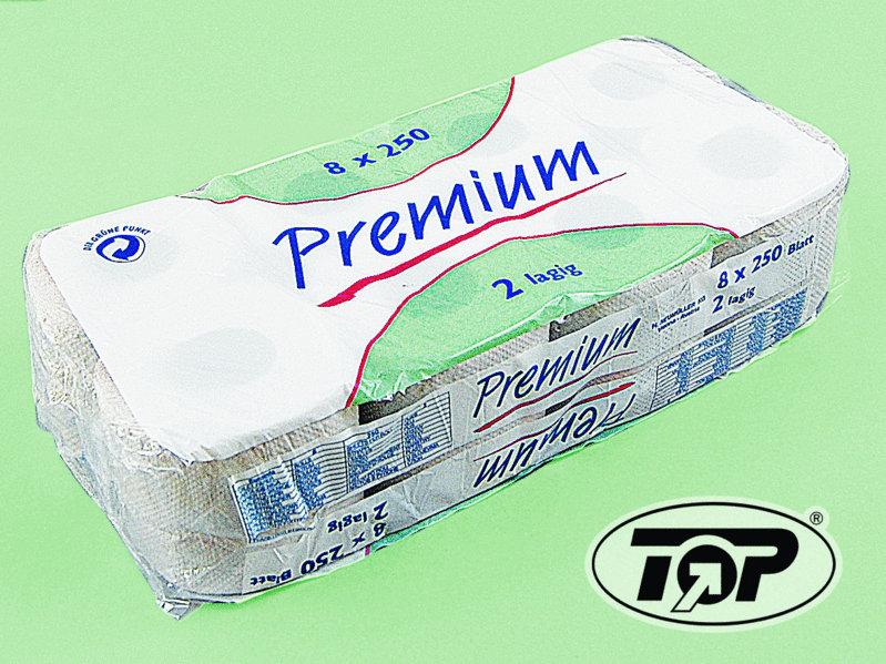 Toilettenpapier Rolle Krepp natur 1-lagig 400Bl 64 Ro