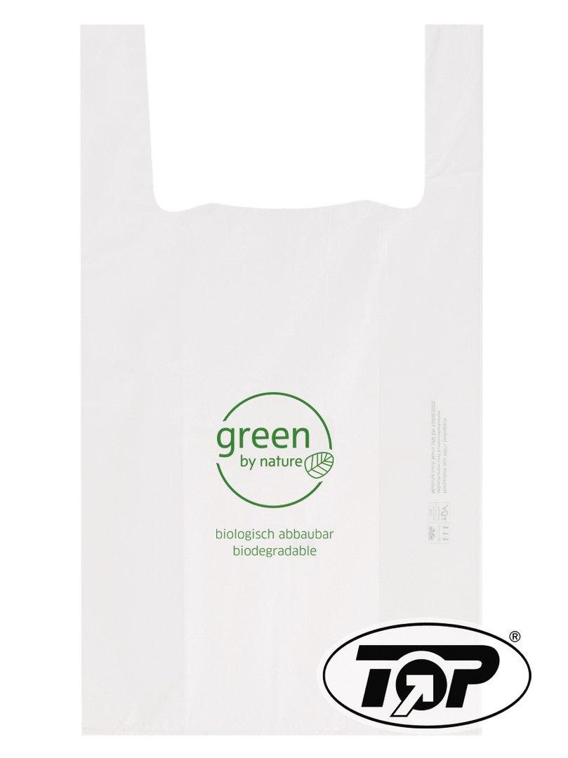 """Bio Hemdchentragetaschen """"Green"""" 28+14x48cm 18my 1000St"""