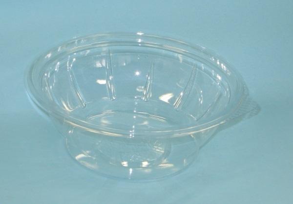 Salatschale 600ml rund glasklar PET 600St