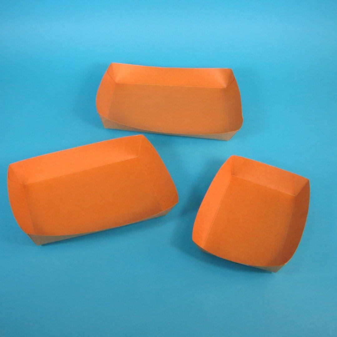 Bio Snackschalen Kraftkarton braun 500St versch. Größen
