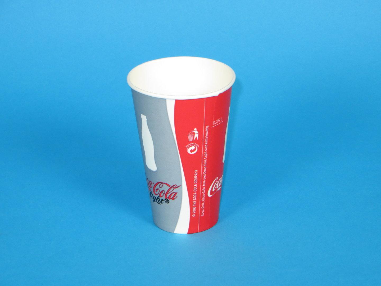 "Trinkbecher Hartpapier 400ml ""Coca Cola""  1000St"