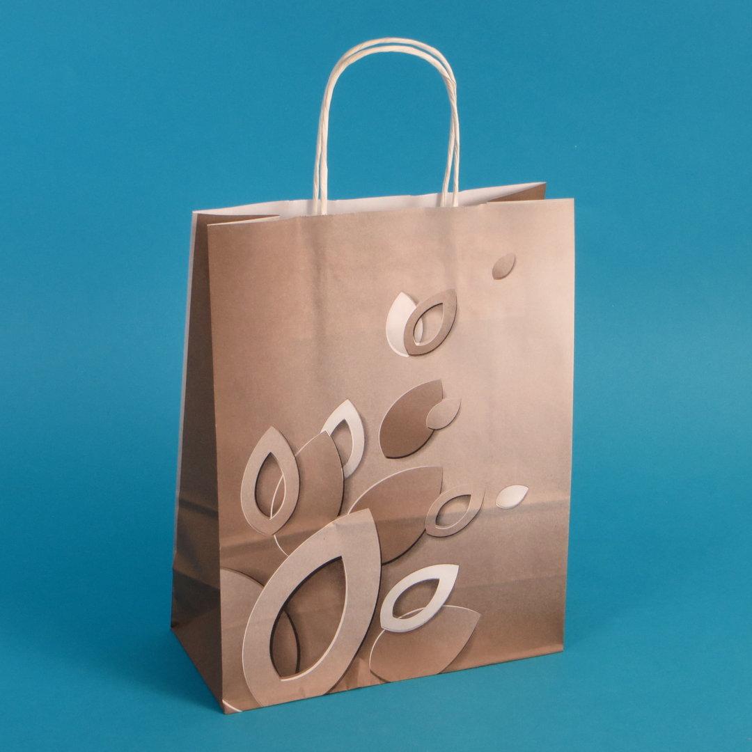 """Papiertragetaschen 22+10x28cm """"Brownie"""" 90g/m² 250St"""