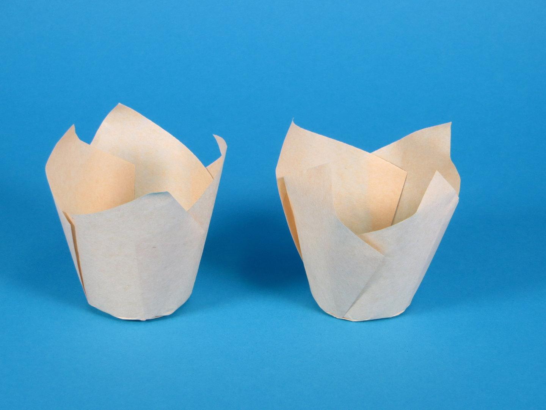 Muffin Tulip Cup Gebäckkapsel hellbraun Boden 5cm 9cm hoch 1000St