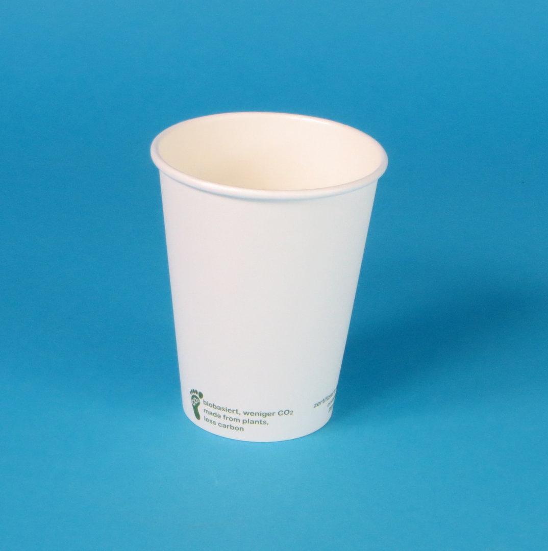 """Bio Kaffeebecher """"Urban Leaf"""" weiß 1000St versch. Größen"""