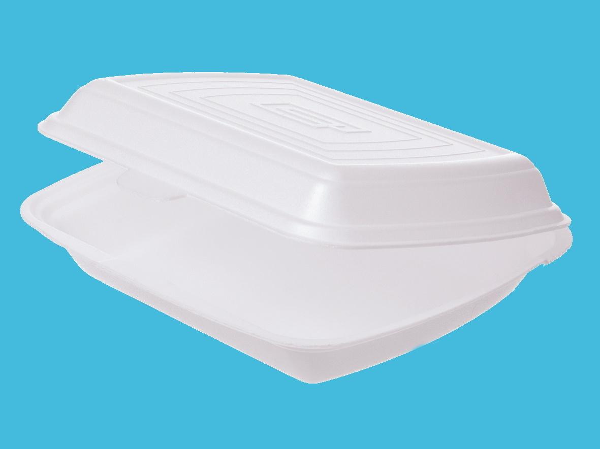 Menüboxen Premium XPS laminiert ungeteilt weiß 24,5x21x7,2cm 200St