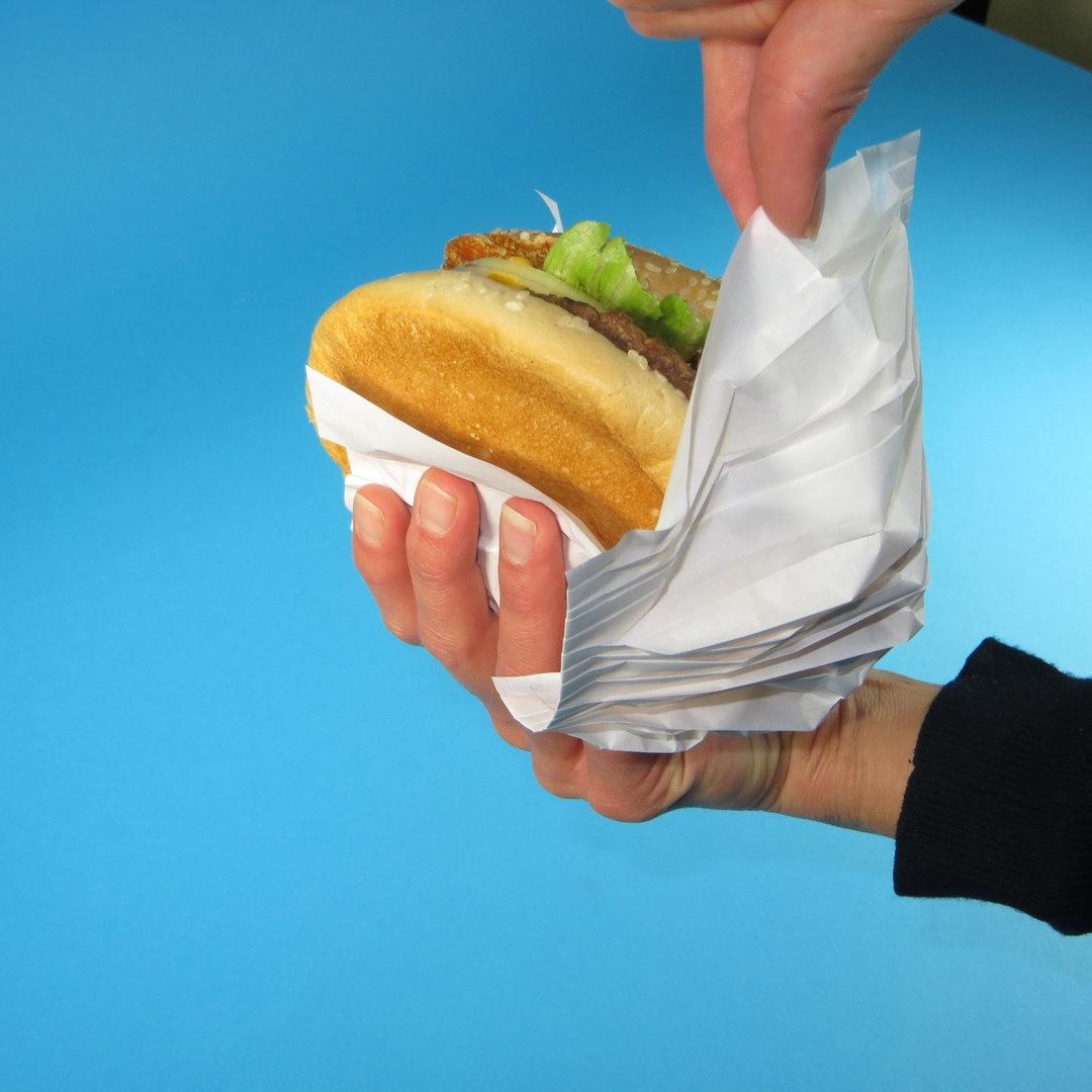 Hamburger-Verpackung Pleatpak verschiedene Größen