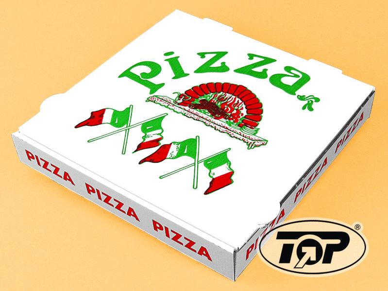 """Pizzakarton 4,2cm hoch """"Italienische Flagge"""" NYC Kraft 100St. versch. Größen ab:"""