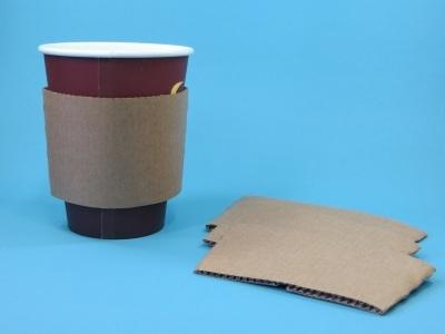 Bechermanschette für Coffee to go Becher 6/8/10oz 1000St