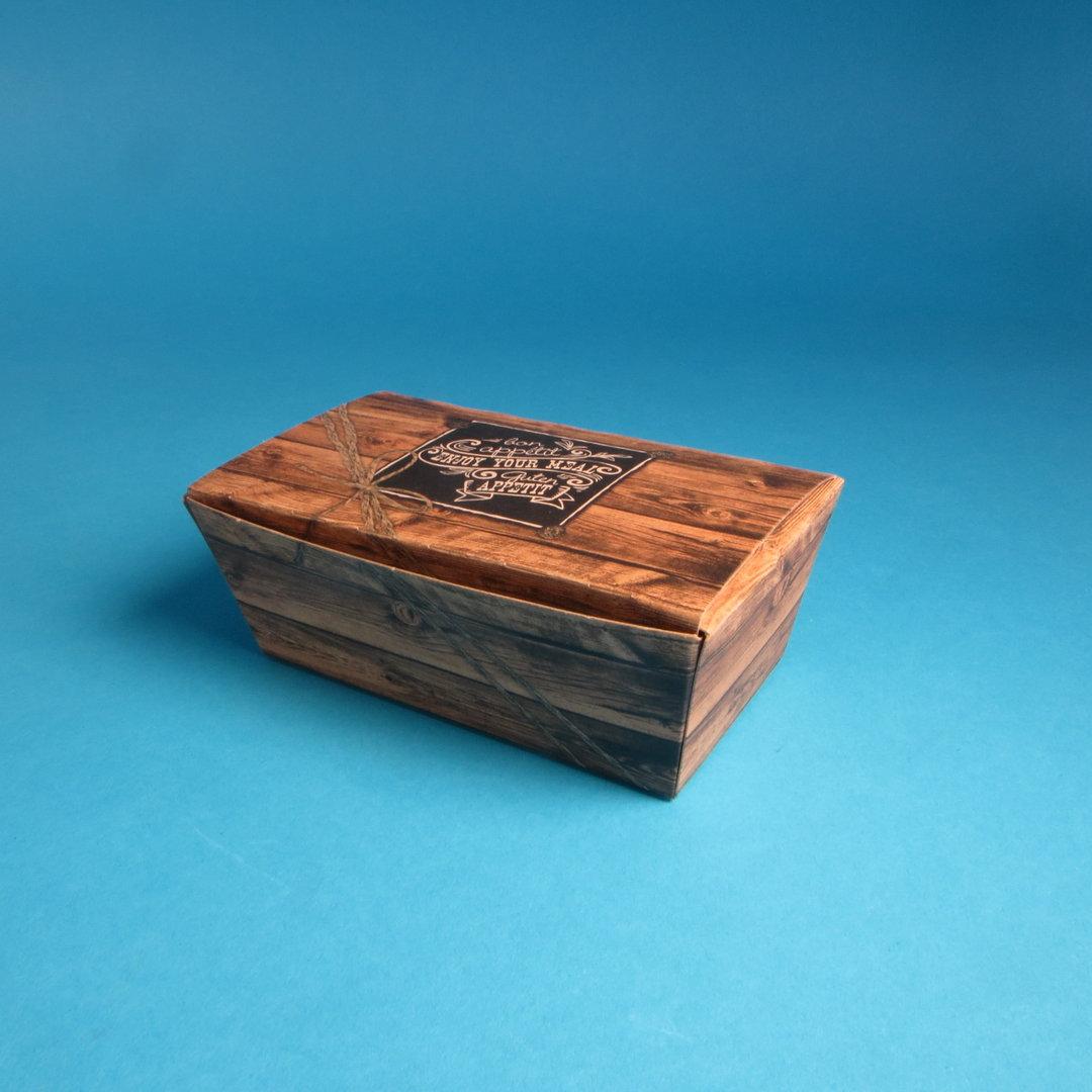 """Snack Faltbox Chickenbox klein 124x65x50mm """"Enjoy"""" 450St"""