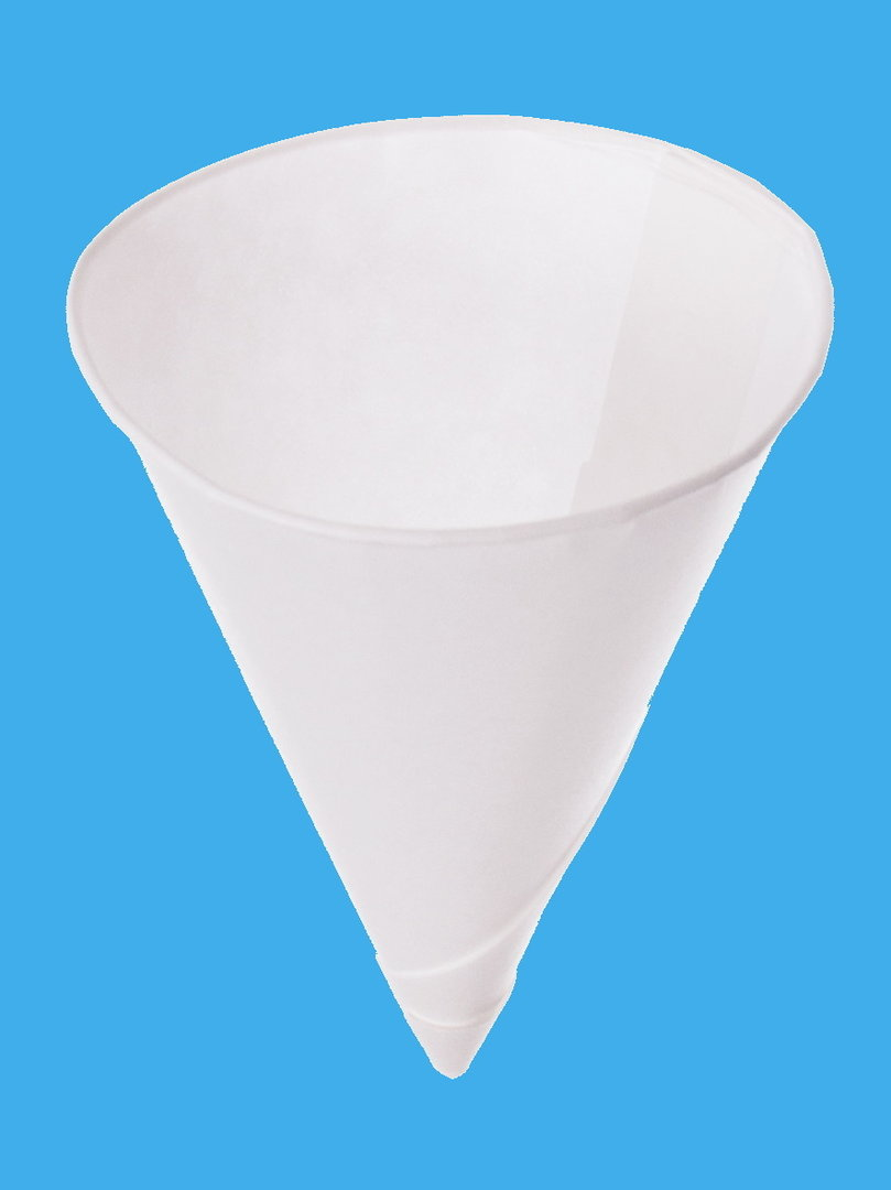 Papier Spitzbecher Wasserbecher weiß 4,5oz 133ml 5000St