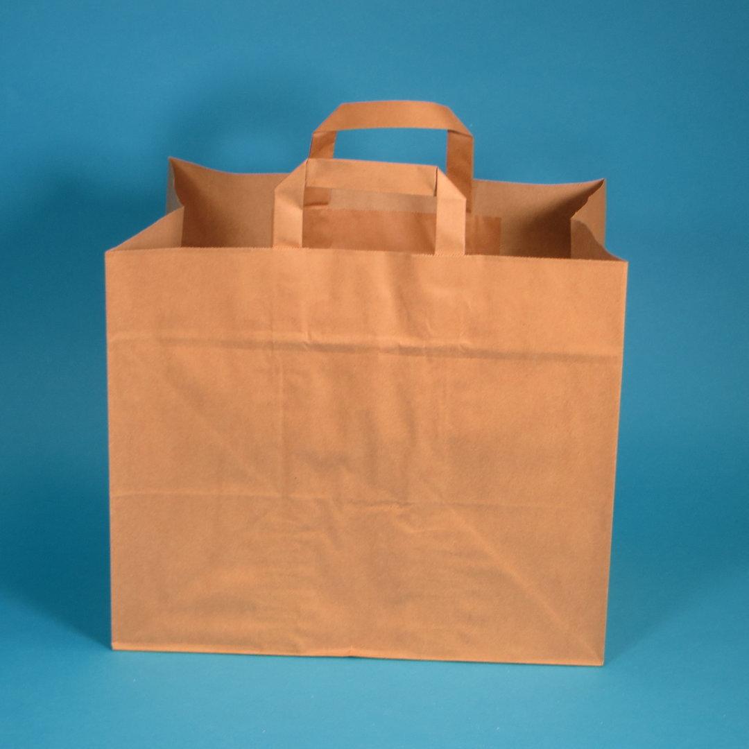 Papiertragetaschen braun 70g 32x17x27cm 250St.