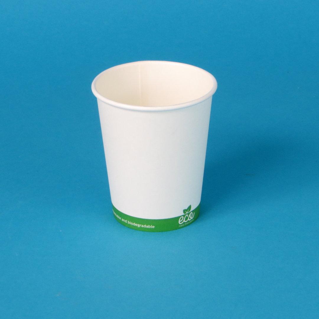 Bio Coffee to go Becher weiß m. Bio Eco versch Größen 1000St