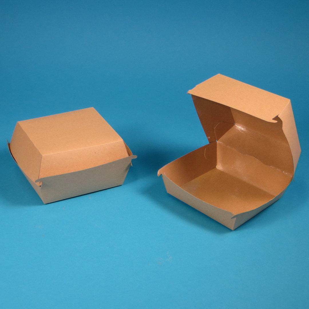"""Bio Hamburgerbox """"Pure"""" 135x125x75mm braun FSC 300St"""