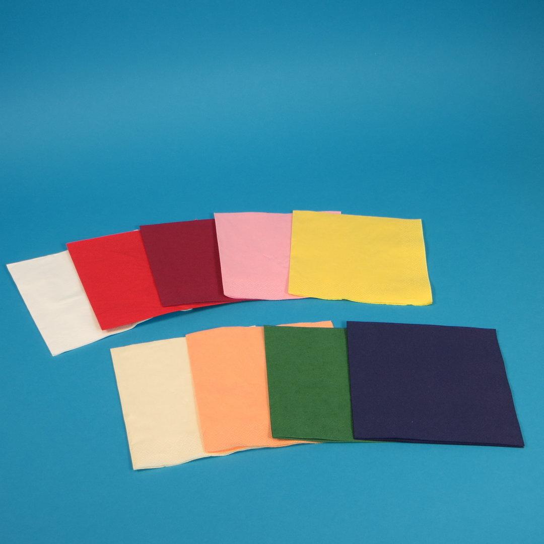 """Tissue Servietten """"Gourmet"""" 40x40cm 3lg 1/4 1000St m. Farbauswahl"""