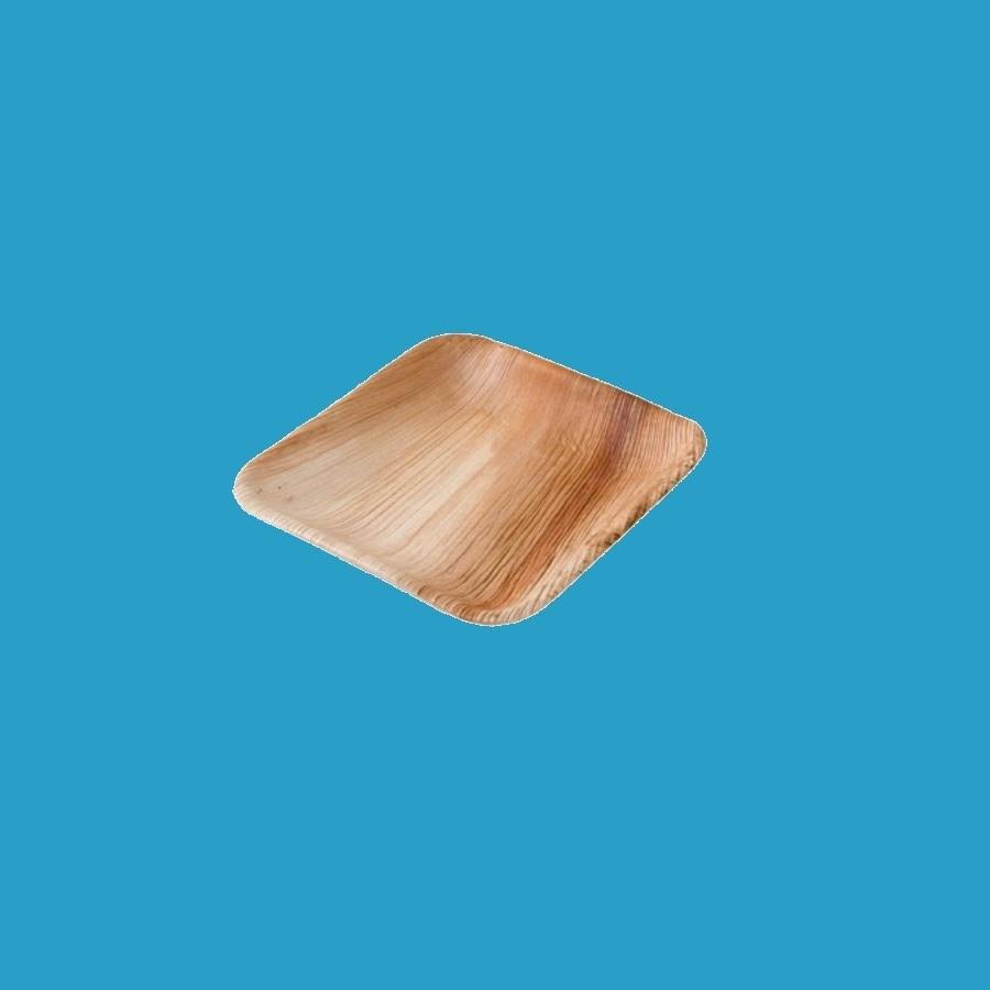 Bio Palmblatt Teller quadratisch 15x15cm flach 200St