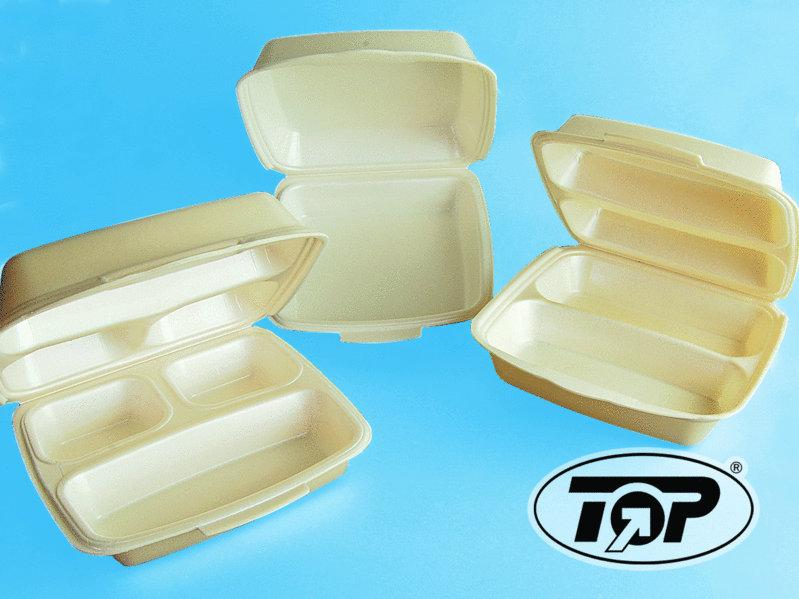 Dinnerbox Premium beige 2-geteilt 245x230x75mm 200St.