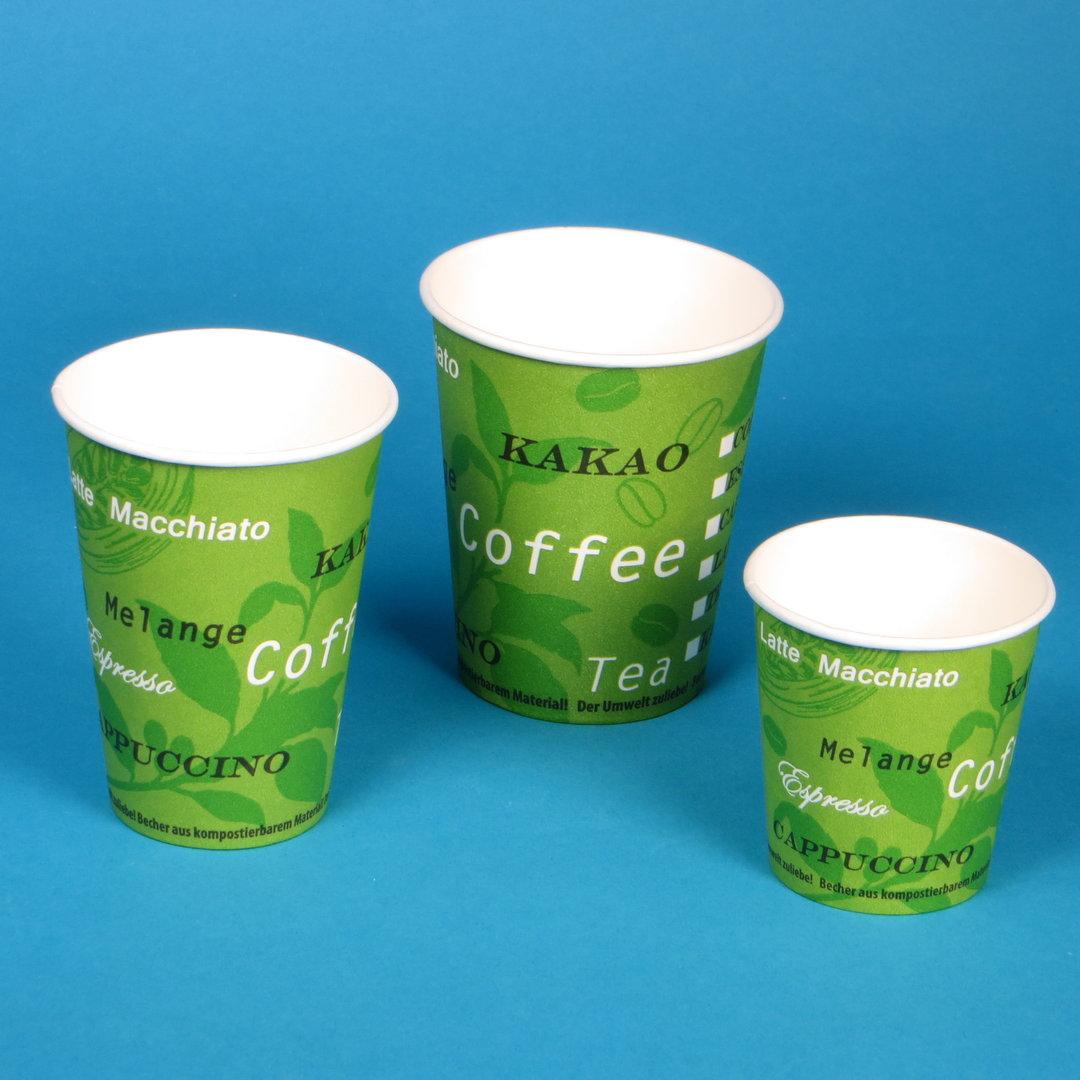 Bio Coffee to go Becher grün versch. Größen 1000-3000St