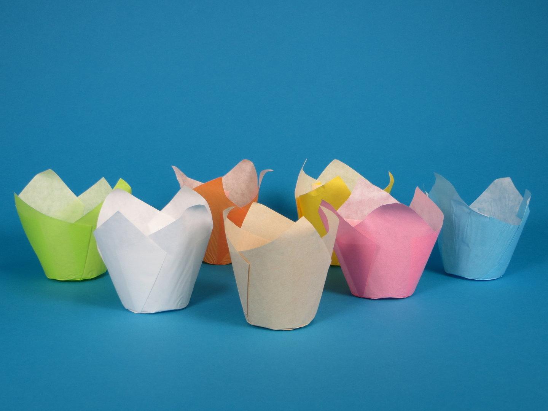 Muffin Tulip Cup 5cm Boden 9cm hoch versch. Farben 1000St
