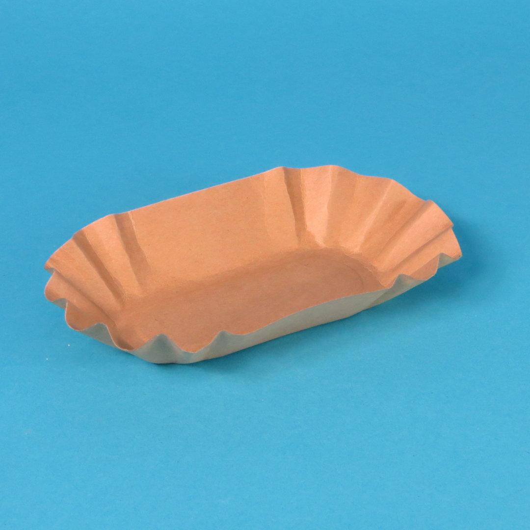 Bio Pappschalen FSC braun fettdicht 11x19,5x3,2cm 1000St