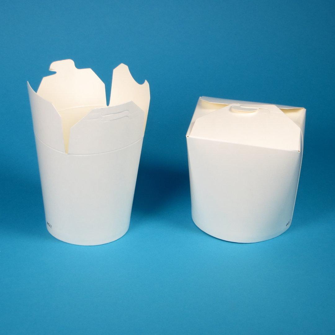 Snack Faltbox weiß rund ohne Henkel 500St versch. Größen