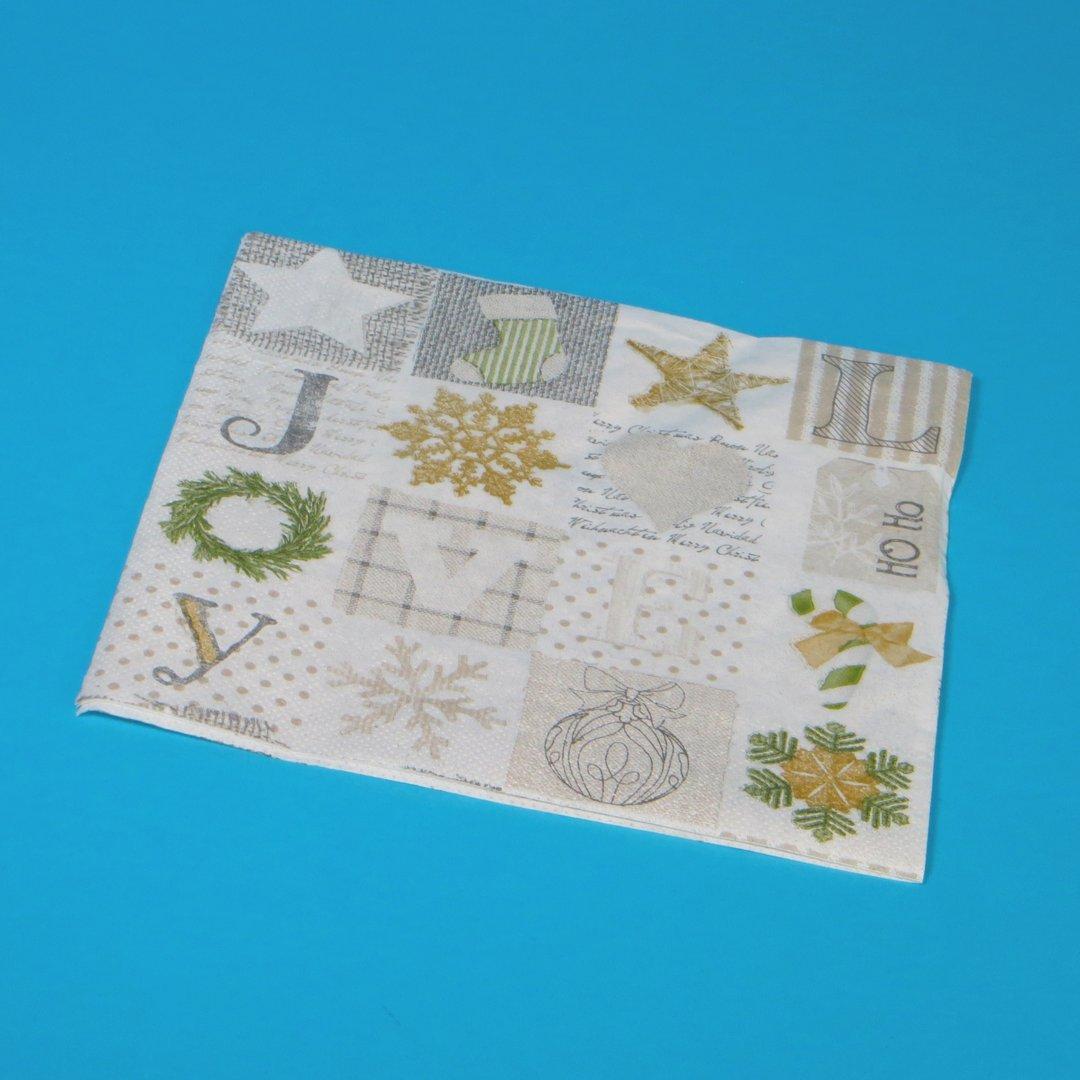 """Tissue Servietten Weihnachten """"Candy"""" 40x40cm 3lg 1/4 1200St"""