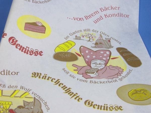 """Bäcker Einschlagpapier """"märchenhaft"""" 40x50cm 1000St"""