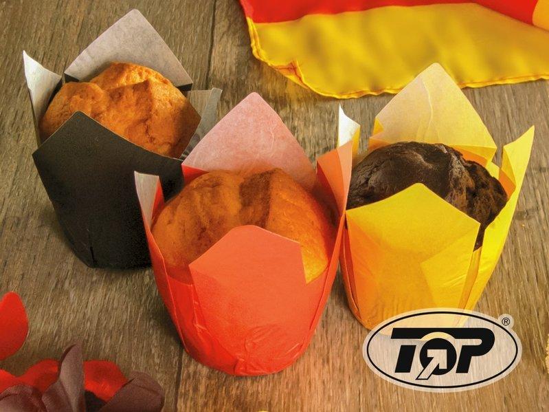 Muffin Tulip Gebäckkapseln schwarz 5cm 1200St.