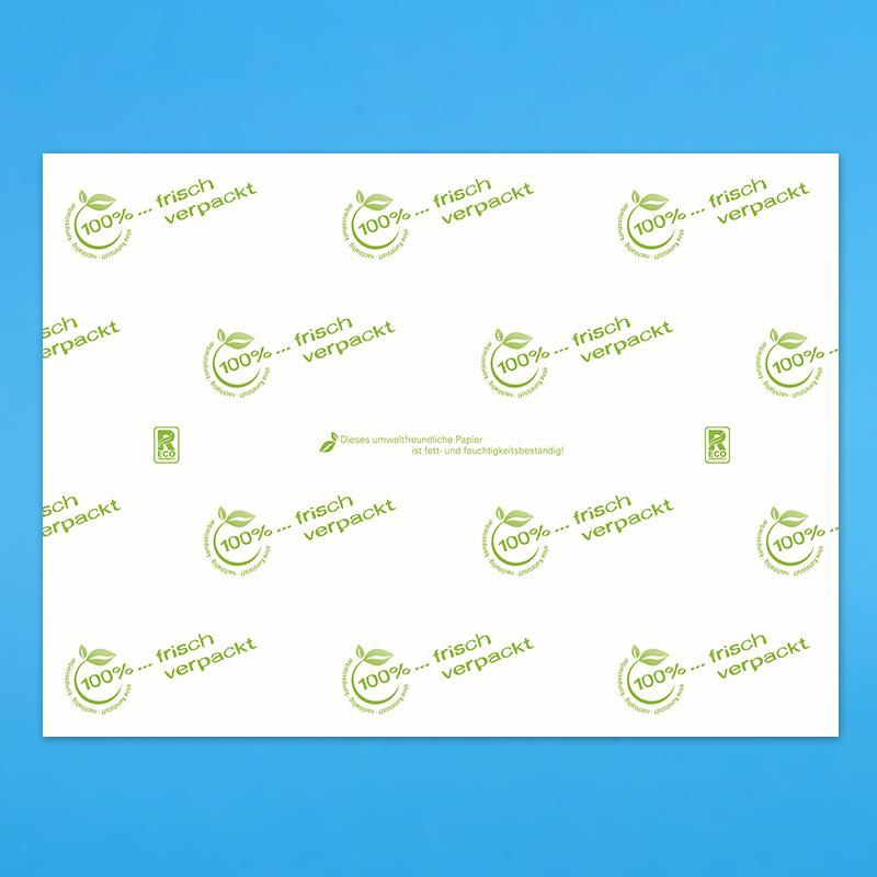 """Bio Frischhaltepapier """"frisch verpackt"""" 55g/m² fettdicht 12,5kg"""