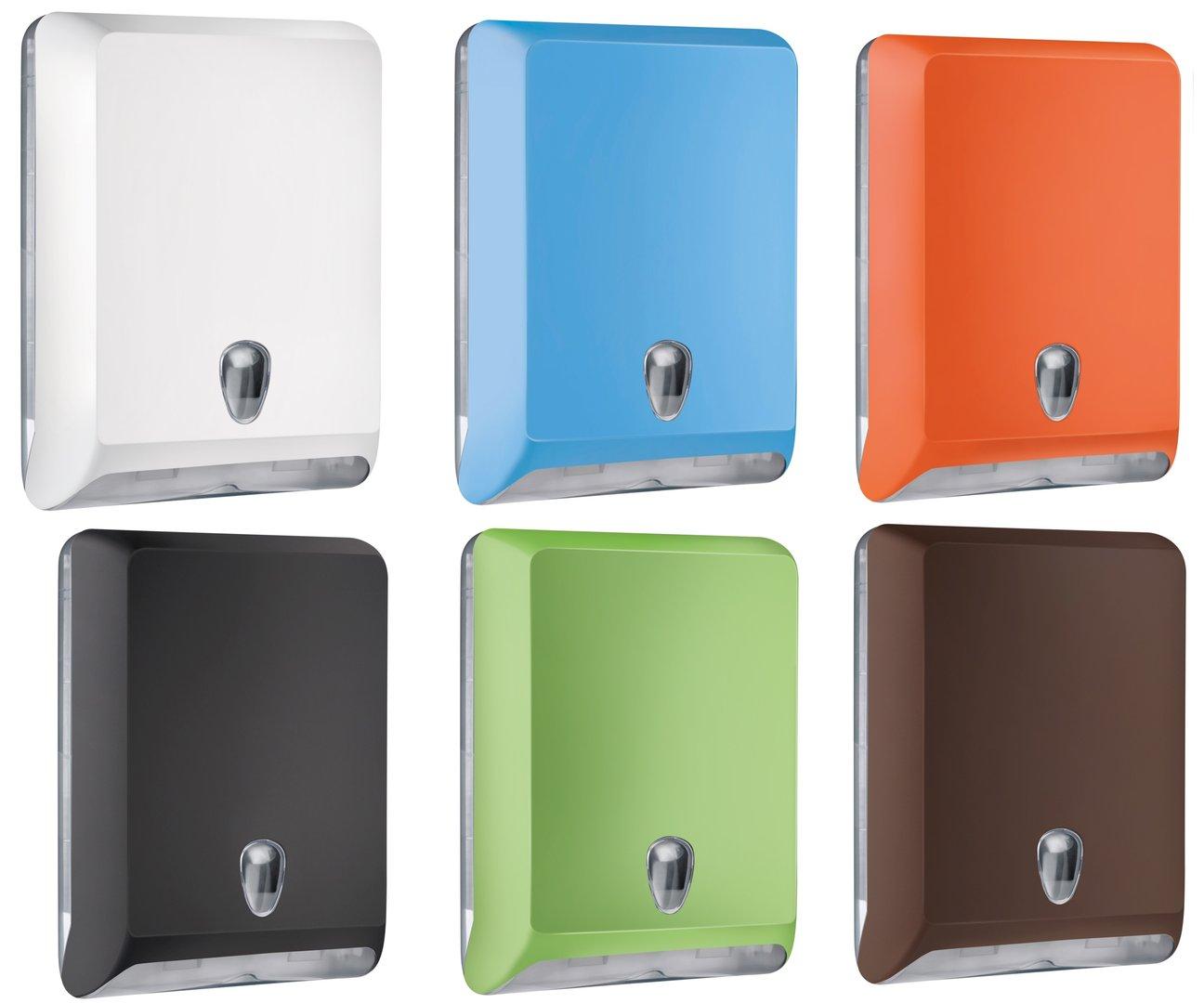 Falthandtuchspender für 400-800St mit Sichtfenster versch. Farben