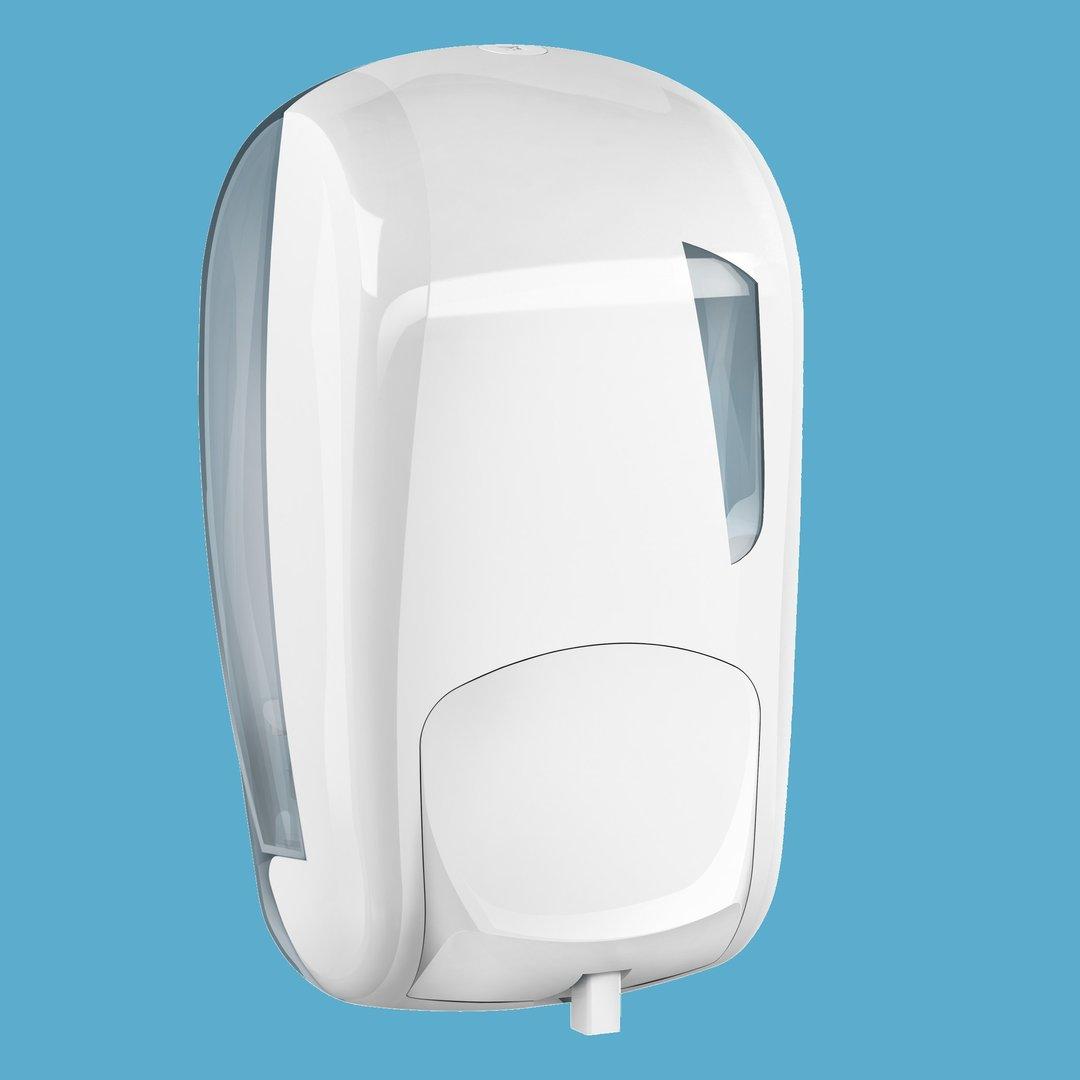 Seifenspender Profi 600ml nachfüllbar weiß mit Fenster 1St