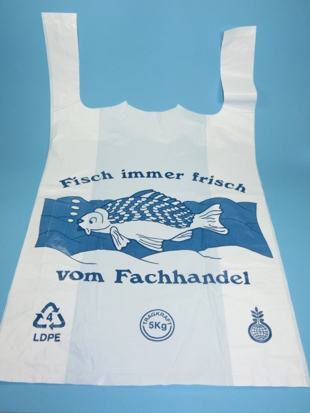 """Hemdchentragetaschen """"Fisch"""" extrastark 28x14x48cm 1000St"""