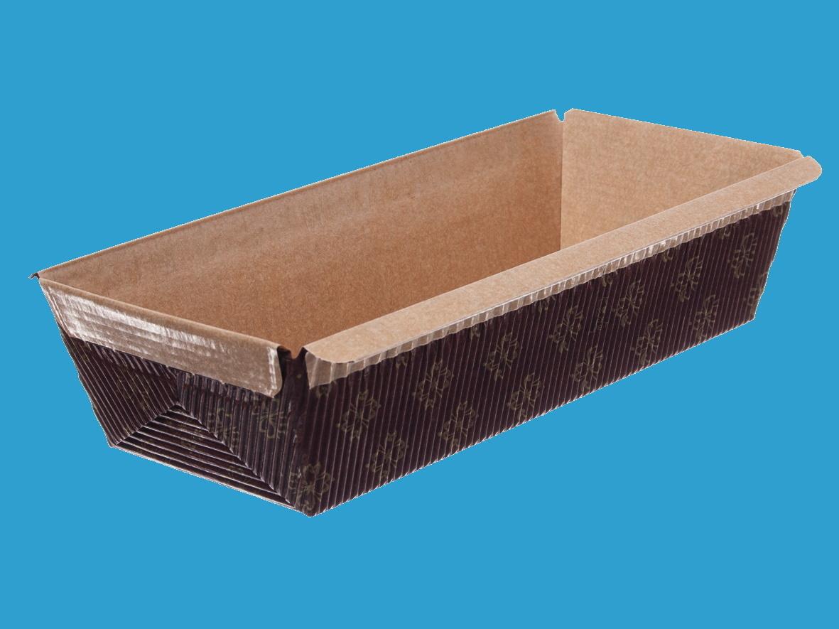 Einweg Backformen Papier eckig 65x165mm 45mm hoch 1000St