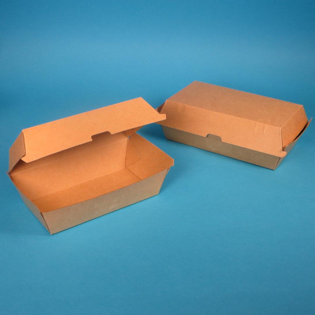 Bio Snackbox Chickenbox braun Kraft 205/230x107/130x78mm 200St