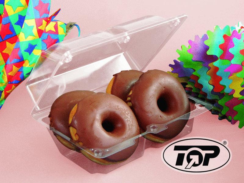 Klarsichtbox für Donuts, Berliner, Krapfen usw. versch. Größen ab