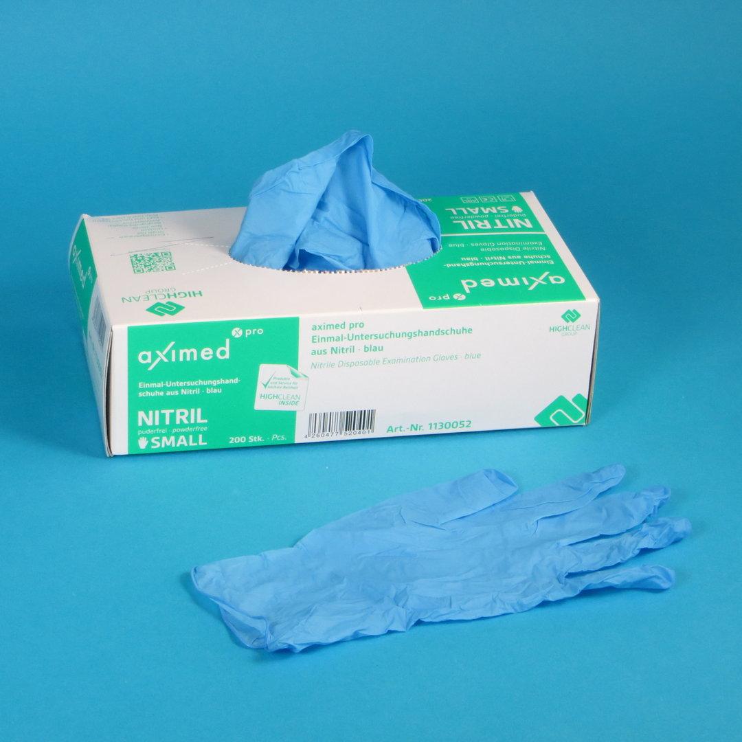 Einmalhandschuhe Nitril ungepudert blau versch. Größen 100-200St