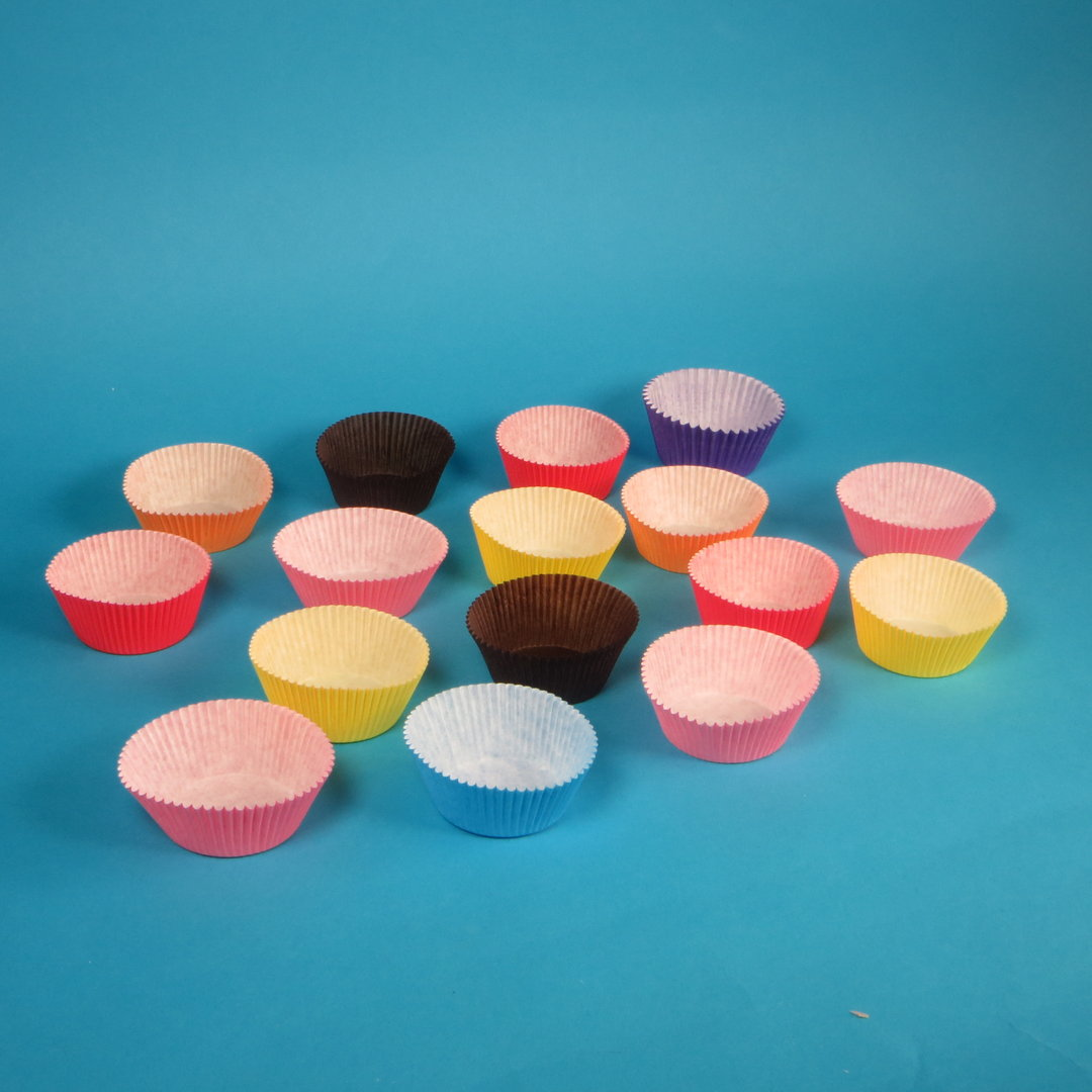 Gebäckkapseln Muffin Cups 50/32mm versch. Farben 1000St