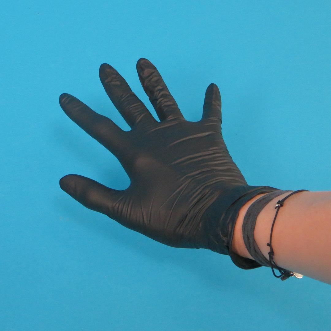 Einweghandschuhe Nitril Schwarz ungepudert 100St versch. Größen