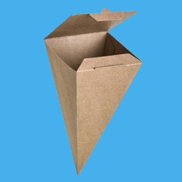 Snack Spitztüten aus Kraftkarton verschließbar 190mm 400St