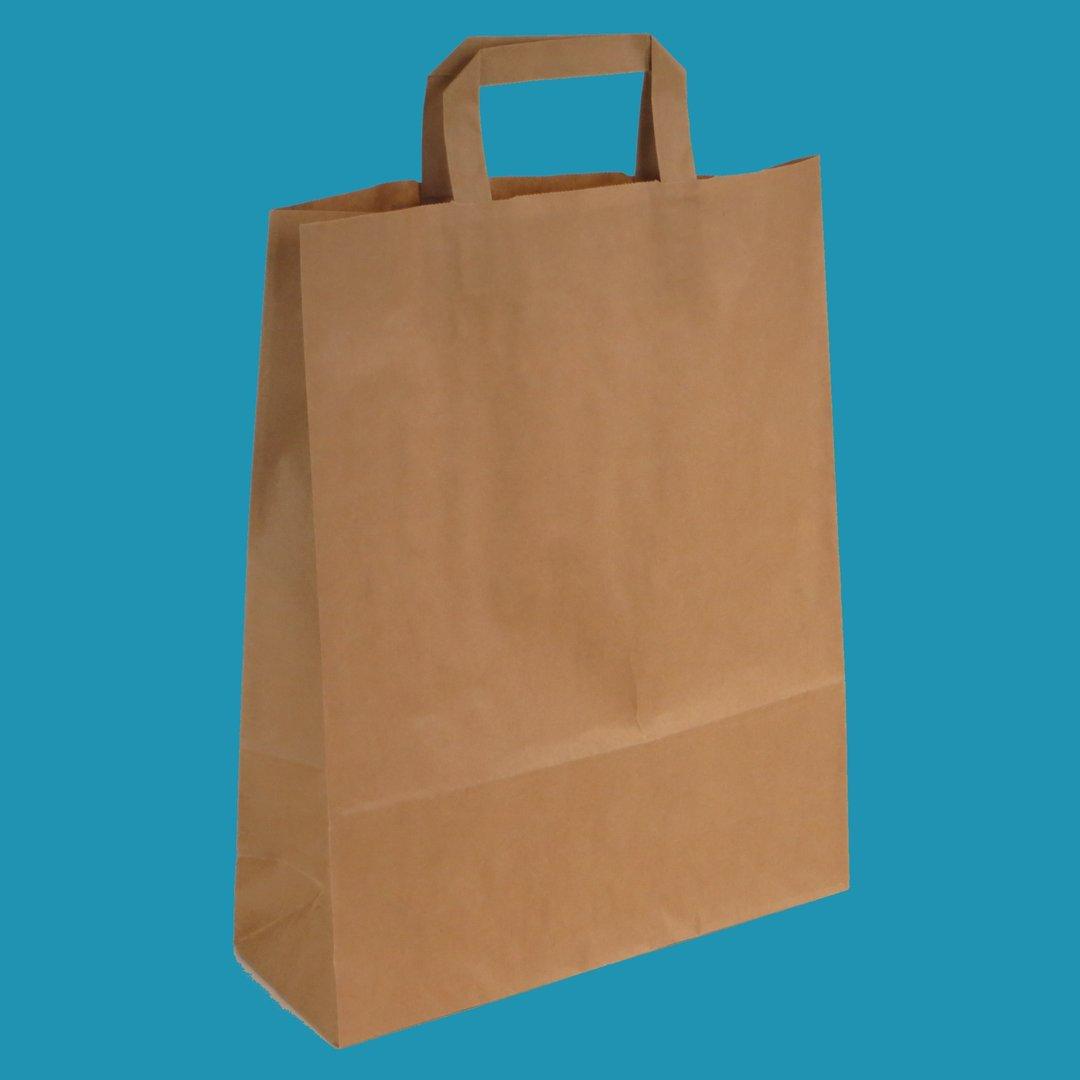 Papiertragetaschen braun NASSFEST 90g/m² 250St versch. Größen