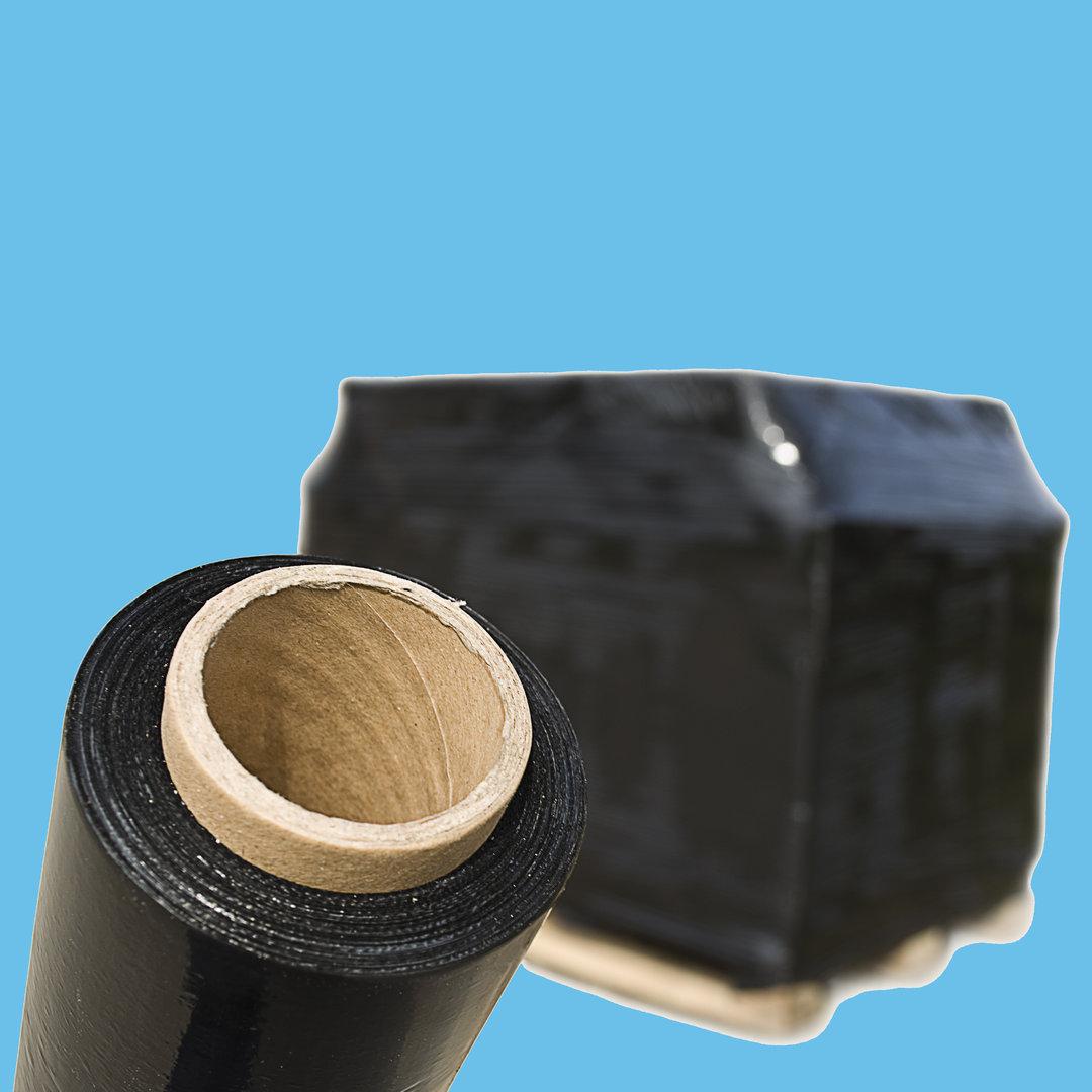Paletten Handstretchfolie schwarz 50cm/300m PE T20 6St.